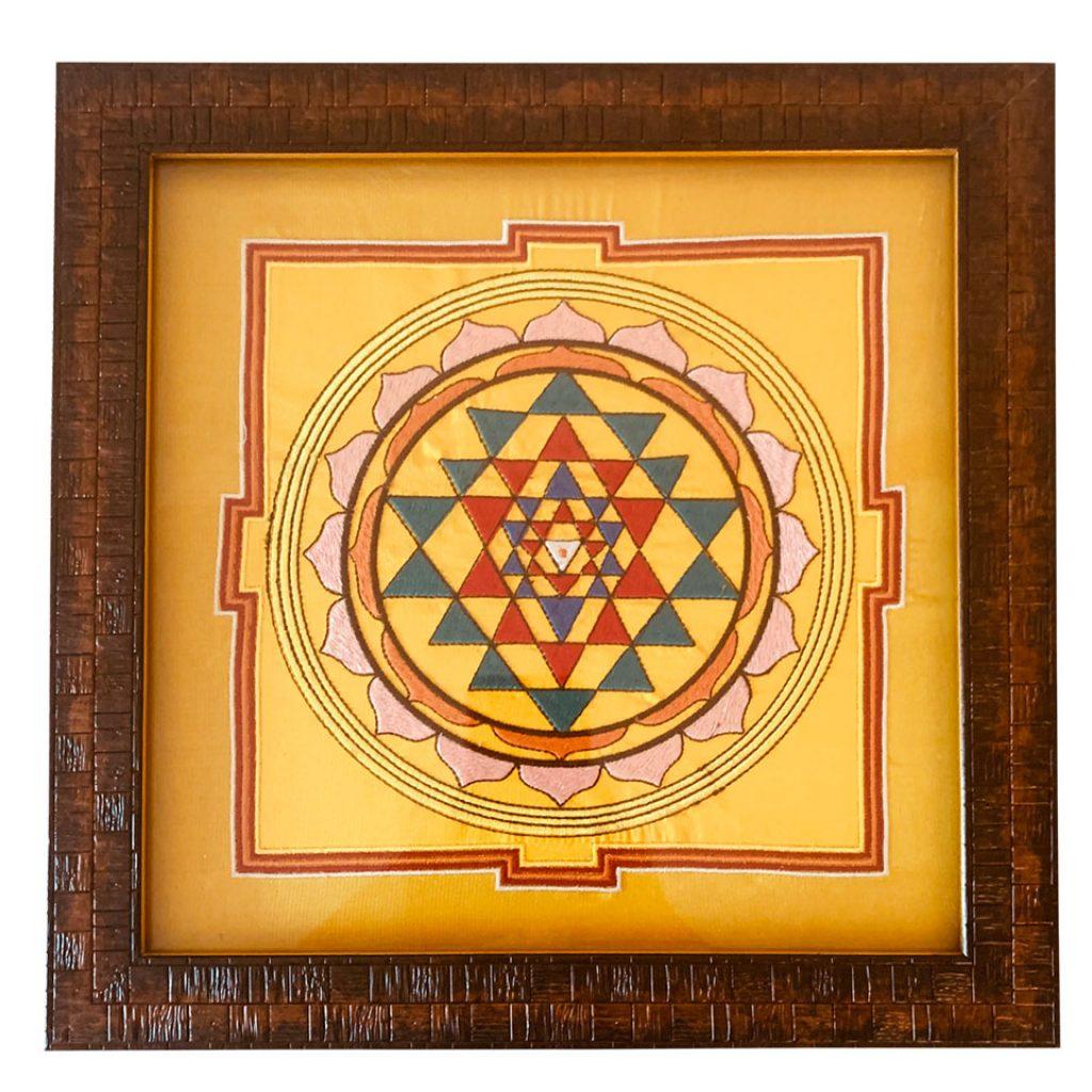 sri Yantra embroidered on pure silk